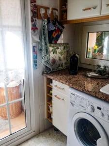 Zona lavadora antes de la reforma